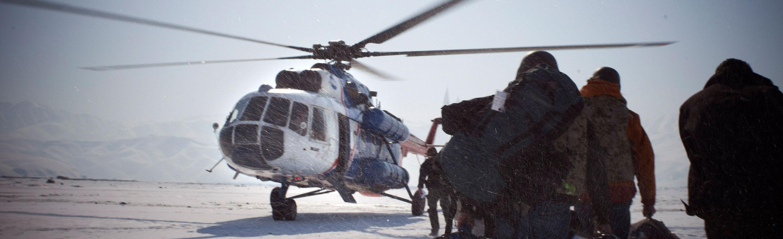 In Afghanistan bei einer Filmproduktion für den MDR