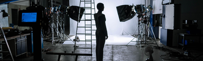 Am Set zum Dreh für einen Industriefilm