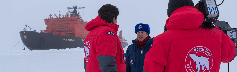 Filmdreh am Nordpol